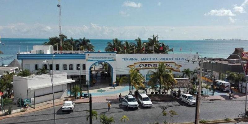 how to get to the Puerto Juarez maritime terminal