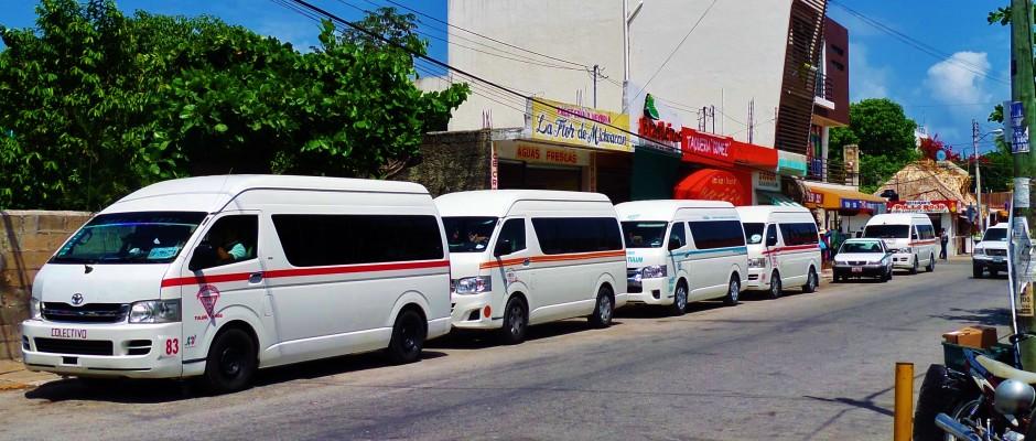 vans form cancun to playa del carmen