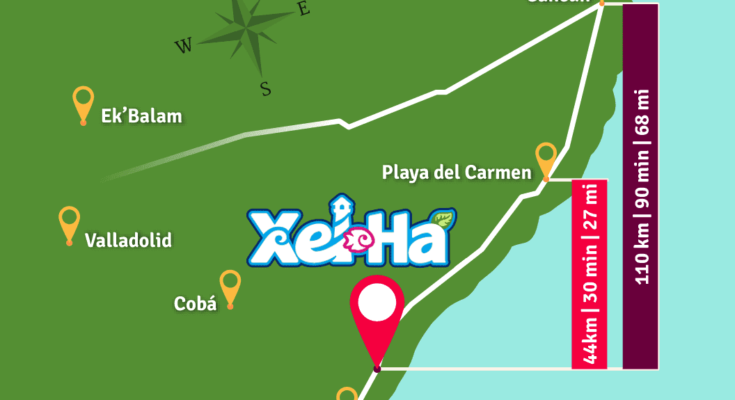 How to get to Xel-Ha and How far is Xel ha from Cancun