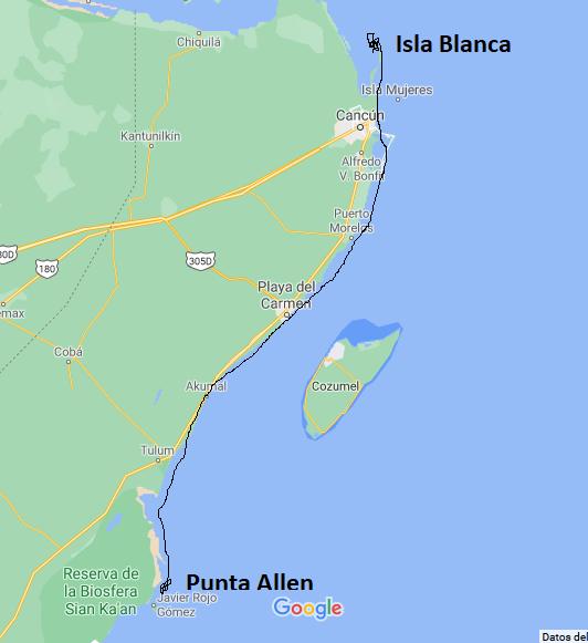Where does the Riviera Maya start