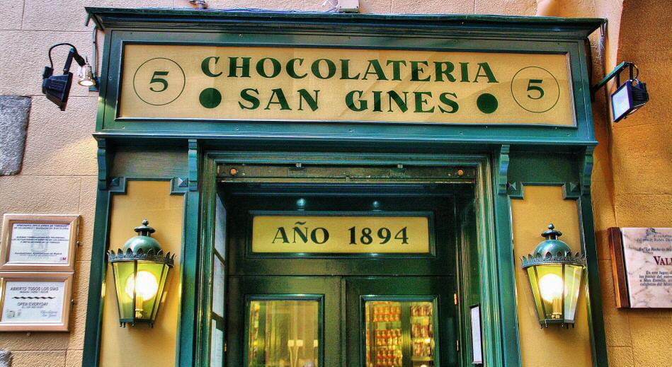 San Ginés Chocolate Shop - what to see in madrid spain