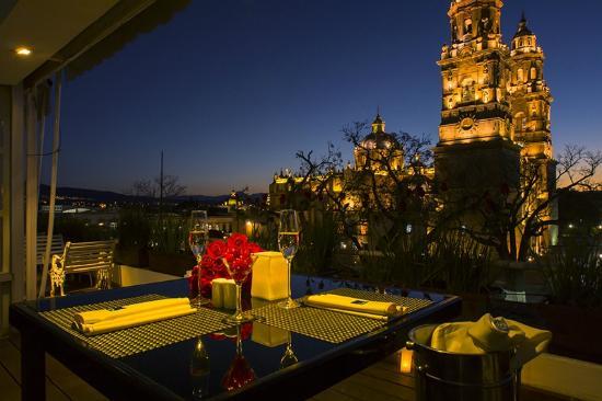The rooftop- restaurant morelia michoacan romantics