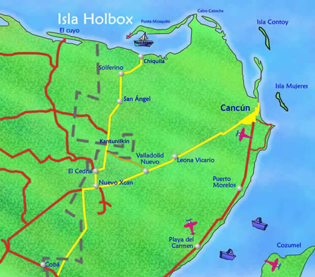 Where is Holbox located