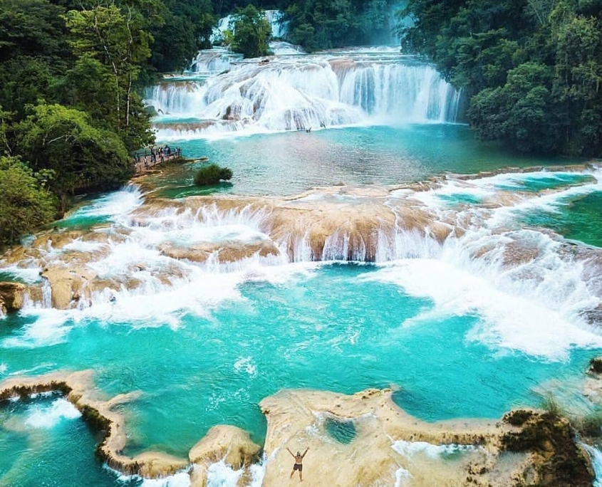 mexico tourist attractions - Blue waterfall